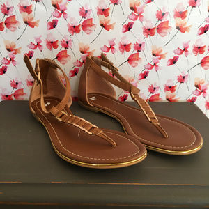 BP (Nordstrom) Brown Sandals Chain Detail